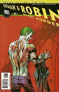 Batman & Robin The Boy Wonder #8 okładka joker
