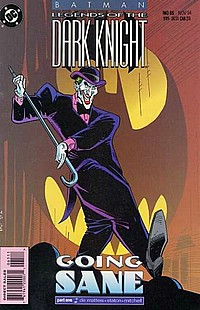 Legends Of The Dark Knight #65 okładka joker