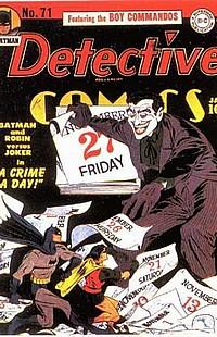Detective Comics #71 okładka joker batman robin