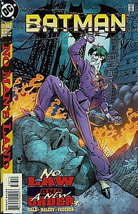 Batman #563 okładka no man lads joker