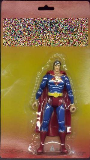 tandetna figurka superbohatera baz logo