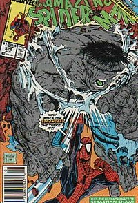 The amazing Spider-Man 328 hulk okładka