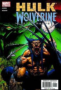 hulk wolverine six hours #1 okładka