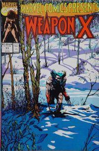 wolverine weapon x okładka marvel comics presents